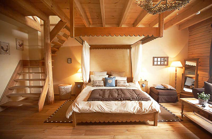 "Bedroom with mezzanine ""Megeve"""